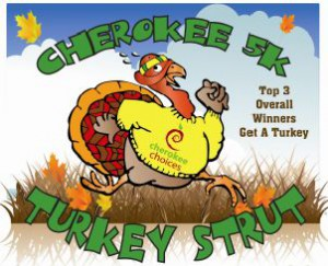 Cherokee 5K Turkey Strut @ Bryson City: Kituwah Mound | Bryson City | North Carolina | United States